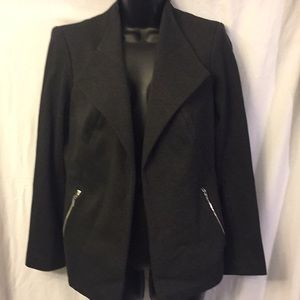 Calvin Klein Grey Blazer Size 6 Zippered Pockets